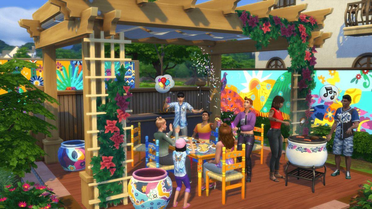 Cena do jogo The Sims