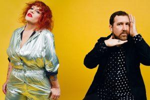 Amy Douglas e Joe Goddard, do Hotchip, na banda Hard Feelings