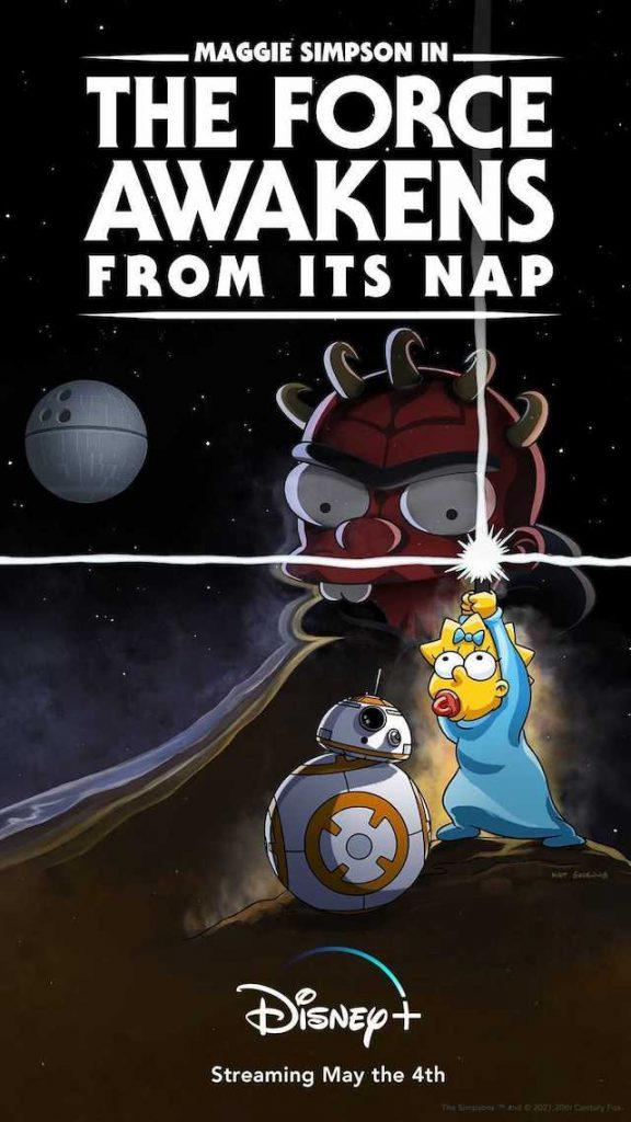 poster dos Simpsons, episódio especial Star Wars