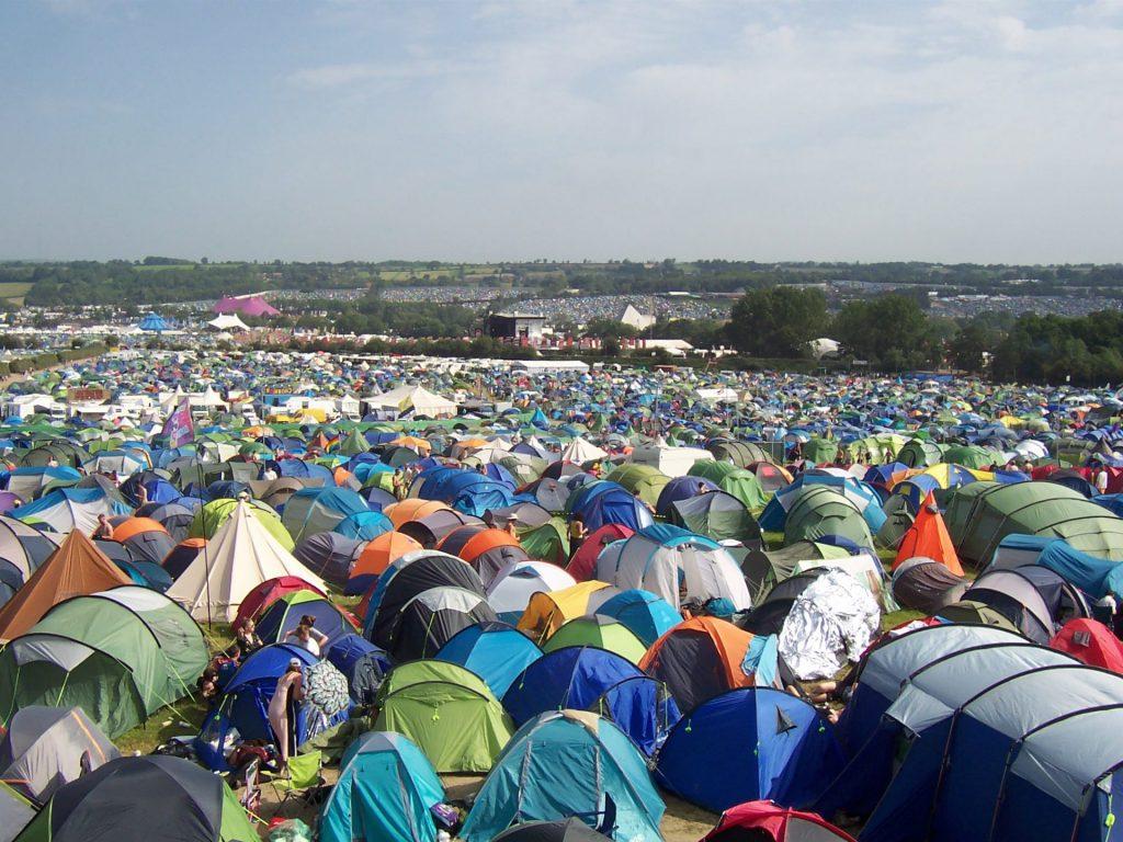 Area de Camping do festival Glastonbury