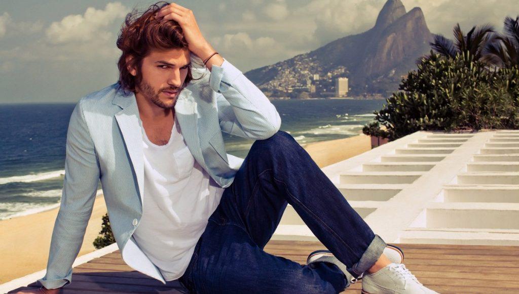 Ashton Kutcher em hotel no Rio de Janeiro - Brasil