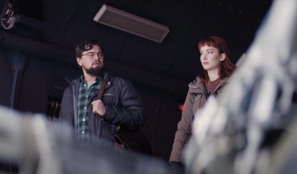Leonardo DiCaprio e Jennifer Lawerence em Don't Look Up