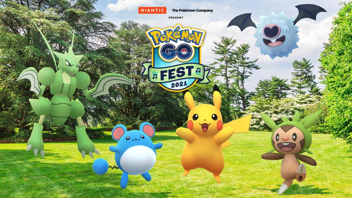Cartaz do Pokémon Go Fest 2021