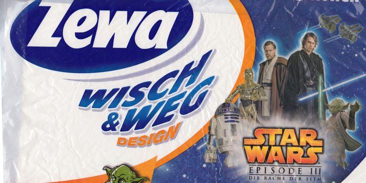 Papel higiênico do Star Wars