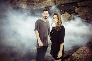 DJs Flow & Zeo na cachoeira
