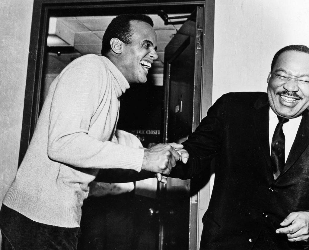 Harry Bellafonte e Martir Luther King