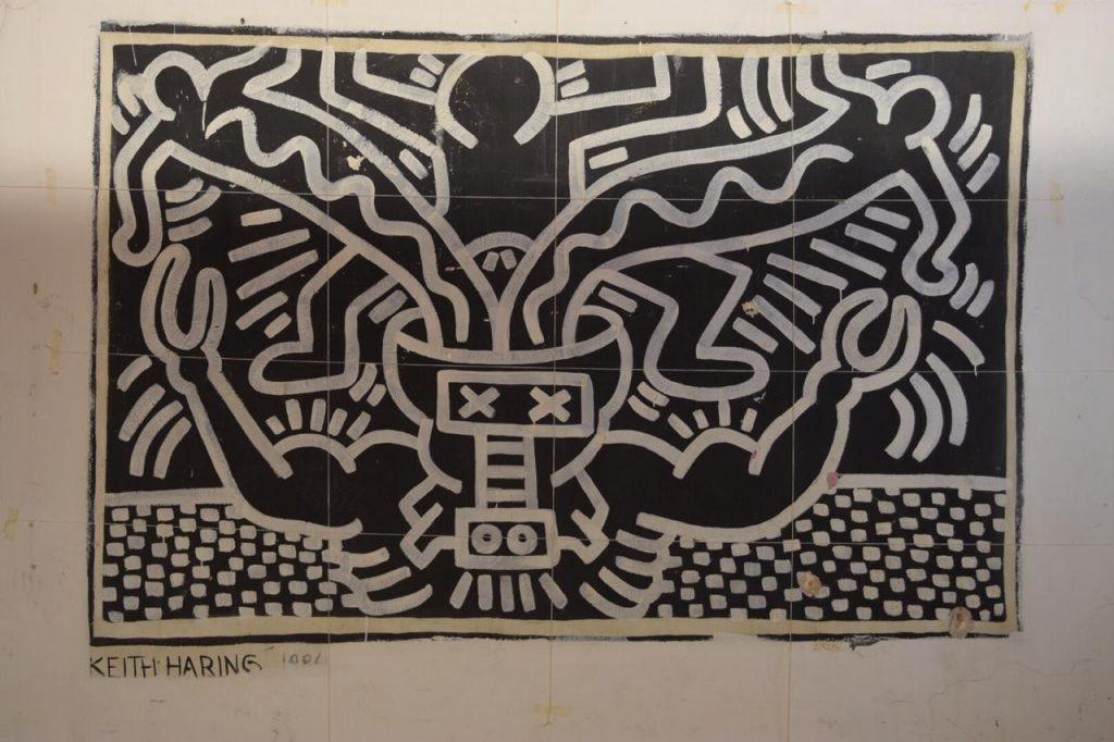 Painel Keith Haring no Tendal da Lapa